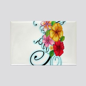 Flower Fusion Rectangle Magnet