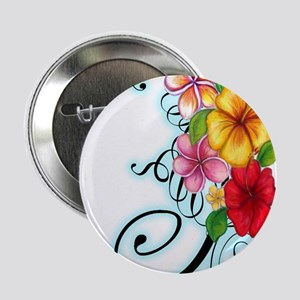 "Flower Fusion 2.25"" Button"