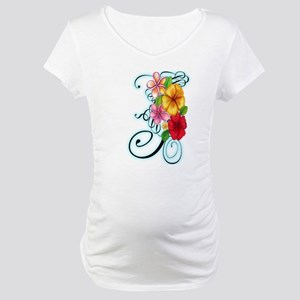 Flower Fusion Maternity T-Shirt