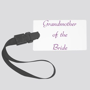 grandmother-of-the-bride-pu Large Luggage Tag