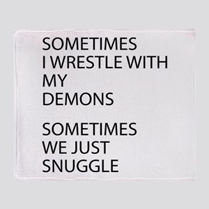 Wrestle With My Demons Throw Blanket