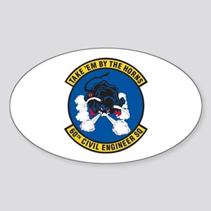 60th Civil Engineer Oval Sticker