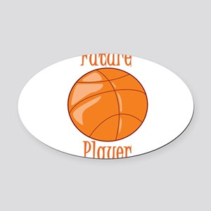 future-basketball-player Oval Car Magnet