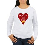 My Heart is in Iraq Women's Long Sleeve T-Shirt