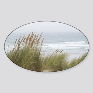 Wind in the Grasses Sticker (Oval)