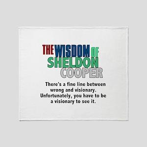 Sheldon Cooper's Visionary Quote Throw Blanket