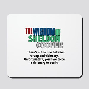 Sheldon Cooper's Visionary Quote Mousepad