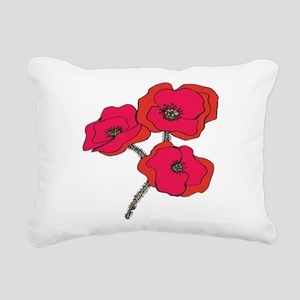 poppy Rectangular Canvas Pillow