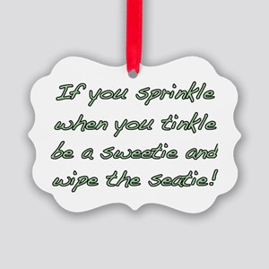 sprinkle,tinkle,green Picture Ornament