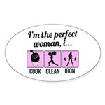 cook, clean, iron Sticker