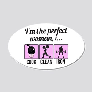 cook, clean, iron Wall Decal