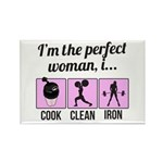 cook, clean, iron Rectangle Magnet