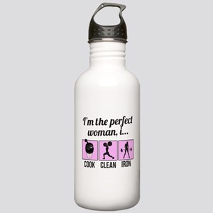 cook, clean, iron Water Bottle
