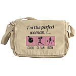 cook, clean, iron Messenger Bag
