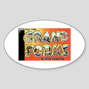 Grand Forks North Dakota Oval Sticker