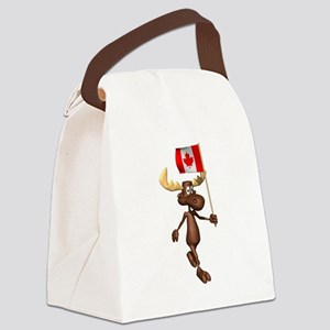 Canadian-Moose Canvas Lunch Bag