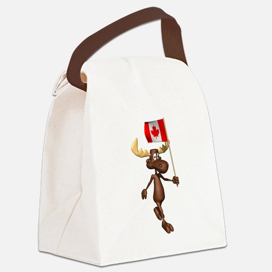 Canadian-Moose.png Canvas Lunch Bag