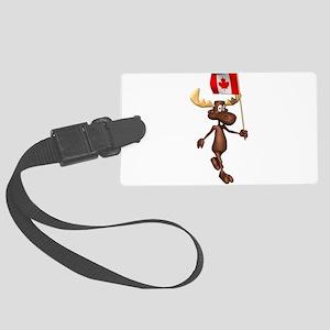 Canadian-Moose Large Luggage Tag