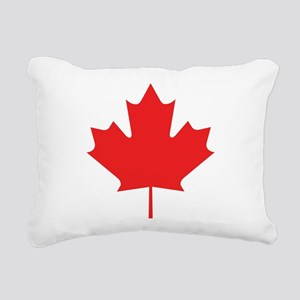 maple-leaf,red Rectangular Canvas Pillow