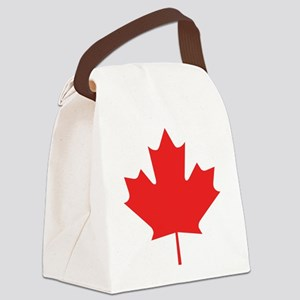 maple-leaf,red Canvas Lunch Bag