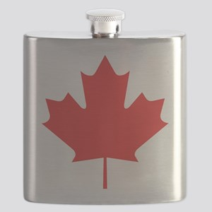 maple-leaf,red Flask