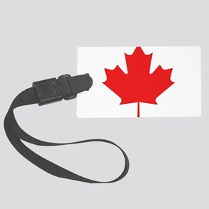 maple-leaf,red Large Luggage Tag