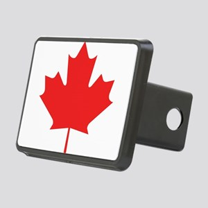 maple-leaf,red Rectangular Hitch Cover