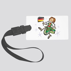 german-girl Large Luggage Tag