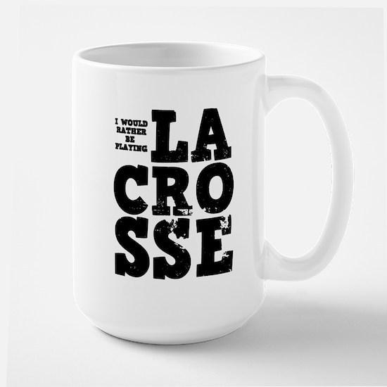 'Playing Lacrosse' Large Mug