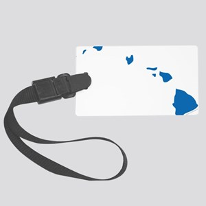 Hawaii State Shape Outline Large Luggage Tag