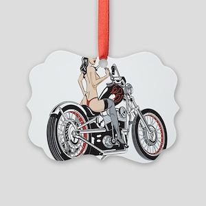 bikerbabe2 Picture Ornament