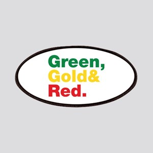 Green, Gold and Red. Patches