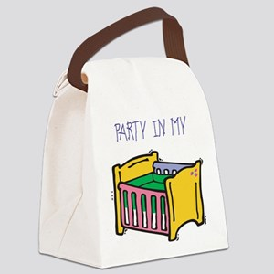 PARTY-IN-MY-CRIB,B Canvas Lunch Bag