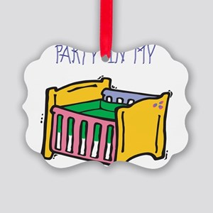 PARTY-IN-MY-CRIB,B Picture Ornament