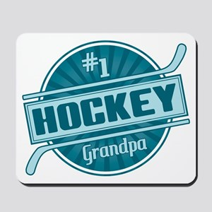 #1 Hockey Grandpa Mousepad