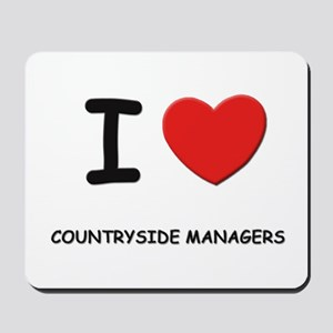 I love countryside managers Mousepad