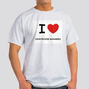 I love countryside managers Ash Grey T-Shirt