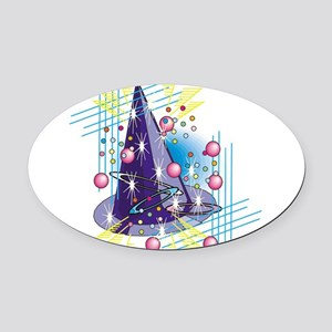 wizards-hat,png Oval Car Magnet