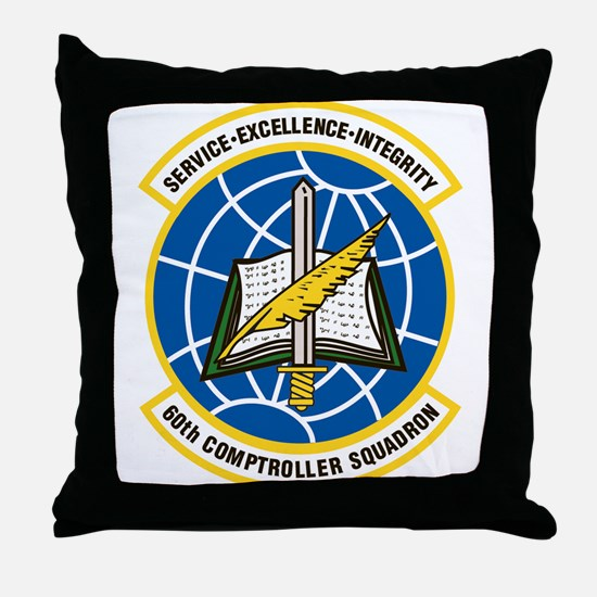 60th Comptroller Throw Pillow