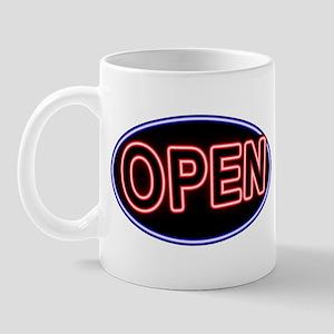 Neon Open (Oval) Mug