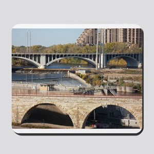 Minneapolis Mississippi Bridges Mousepad