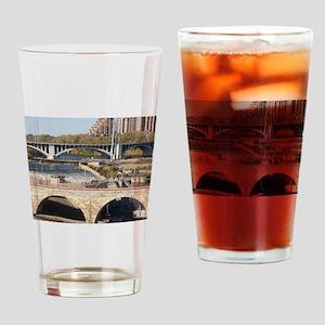 Minneapolis Mississippi Bridges Drinking Glass