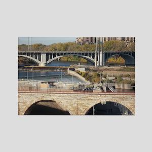 Minneapolis Mississippi Bridges Rectangle Magnet