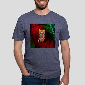 Wonderful owl, mandala design, colorful Mens Tri-b