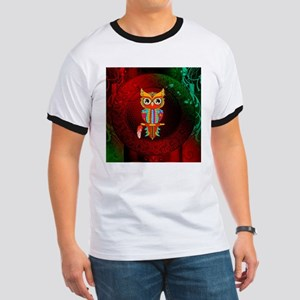 Wonderful owl, mandala design, colorful T-Shirt