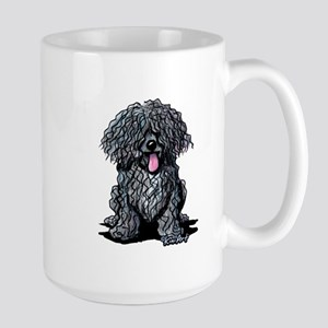 Black Puli Large Mug