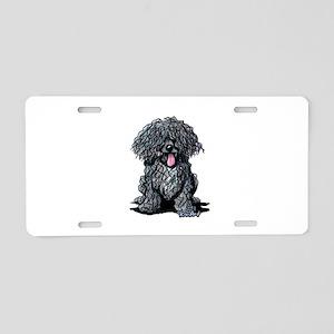 Black Puli Aluminum License Plate