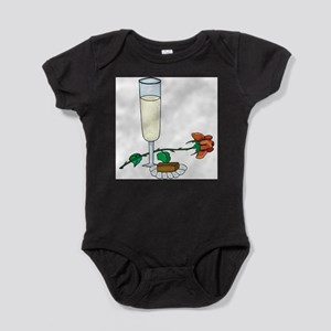 3-wine,glass,rose choco Baby Bodysuit