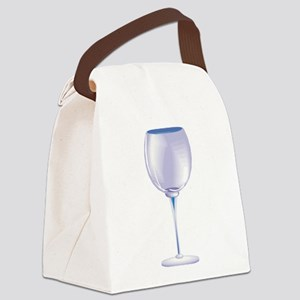 wine, empty glass Canvas Lunch Bag