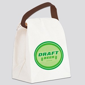 beer,draft beer sign Canvas Lunch Bag